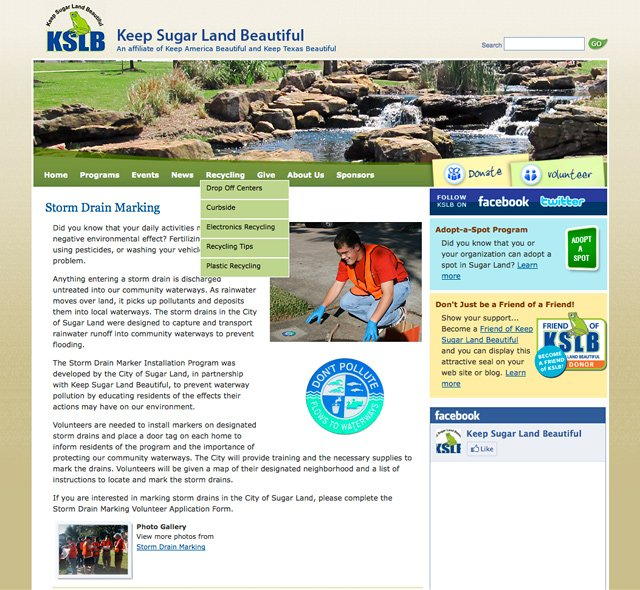 Keep Sugar Land Beautiful (Program)