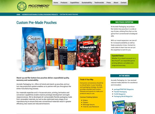 Accredo Products Page