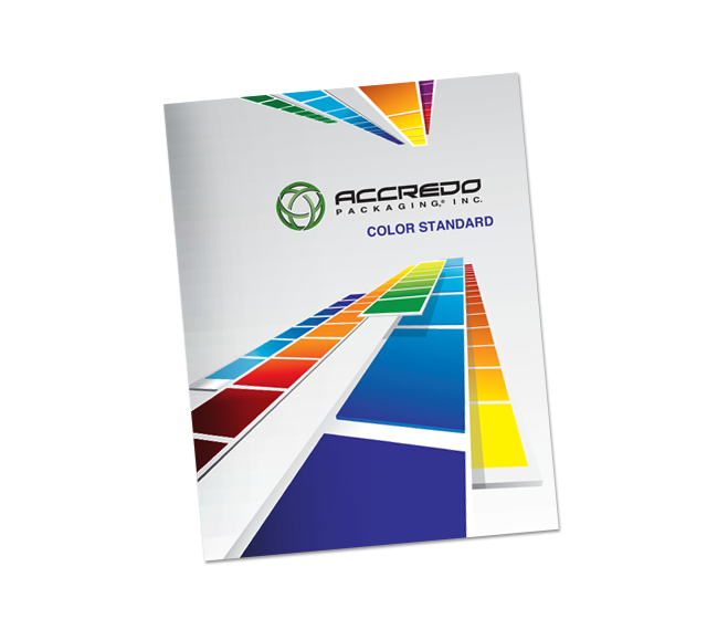 Accredo Packaging Inc. Color Standard Pocket Folder