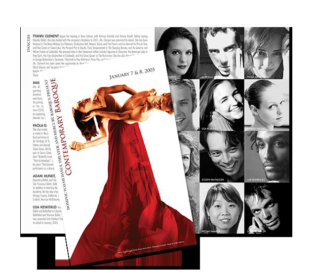 Contemporary Baroque Program and Postcard