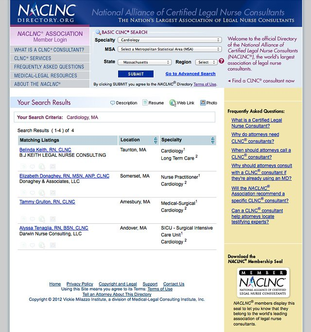 NACLNC Directory (Search)
